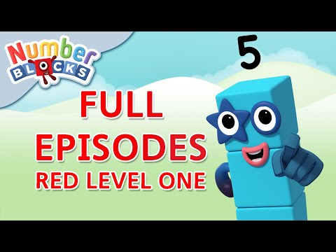 Numberblocks - Red Level One | Full Episodes 7-9 | #HomeSchooling | Learn to Count #WithMe