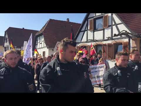 Demo Kandel, 7. April 2018: \
