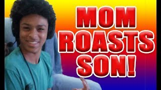 MOM ROASTS SON ON FORTNITE   HILARIOUS   FUNNY MOM   FAMILY VLOG