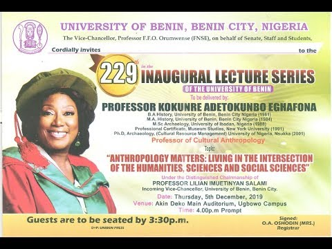 Watch Live: 229th Inaugural Lecture