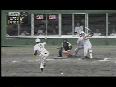 「[野球]膝裏ピーン!超独特のバッティングフォームを見せる高校生バッター」のイメージ