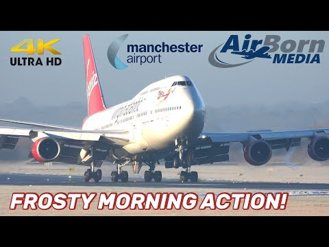 Manchester Airport 31st January 2019 Frosty Morning Landings Take Offs 4K Plane Spotting