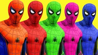 Video Colors for Children to Learn w Spiderman Surprise Toys Wild Animals and Cars 3D MP3, 3GP, MP4, WEBM, AVI, FLV Juni 2018