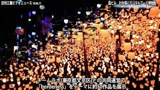 森ビル、デジタルアート博物館 お台場に21日開業(動画あり)