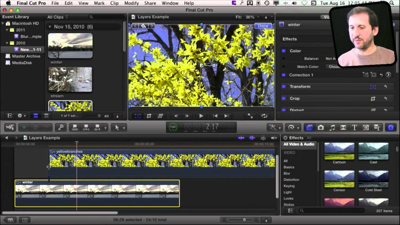 Macmost now 593 layering video in final cut pro x macmost ccuart Gallery