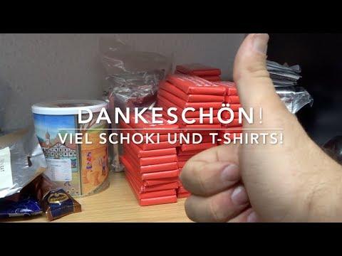 Dankeschön! Diesmal T-Shirts und ein Schweizer-Care-Packet