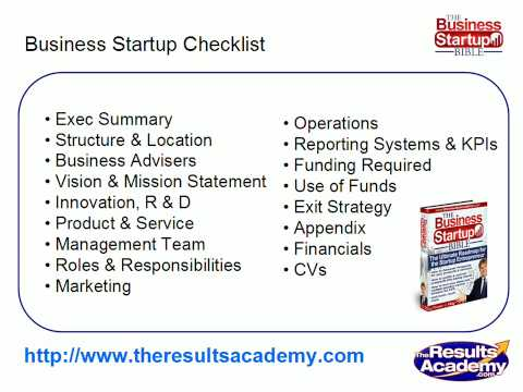 Small Business Startup Checklist – Small Business Plan Template Part 5
