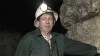 A Cornish miner in a Cornish mine, speaking Cornish.