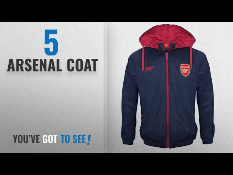 Top 10 Arsenal Coat [2018]: Arsenal FC Official Football Gift Mens Shower Jacket Windbreaker