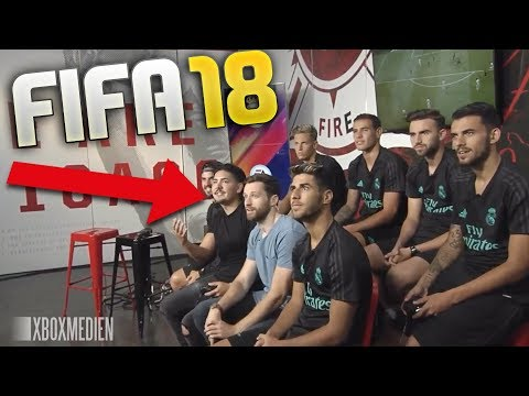 Real Madrid Players Play FIFA 18 With Spencer & Castro