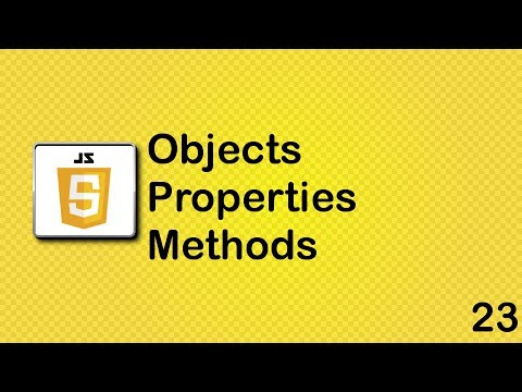 Objects, properties and methods in Javascript