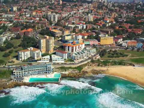 real eatate video - Bondi Beach aerial photography