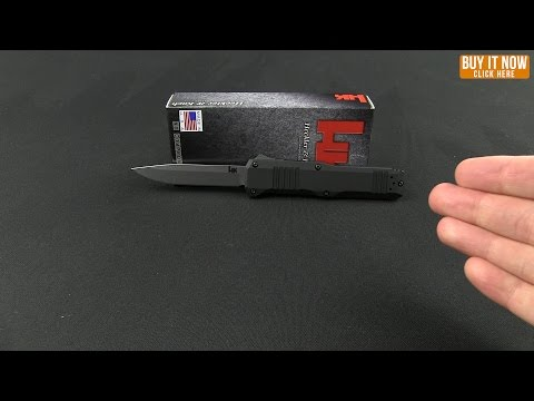 "H&K Turmoil PROTOTYPE 14808 OTF Automatic Knife (3.5"" Satin)"