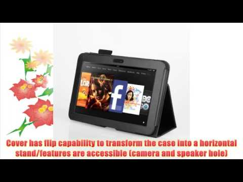 MOFRED® Black Kindle Fire HDX 7 II Tablet (2013 Model) Case-MOFRED® Executive Multi Function