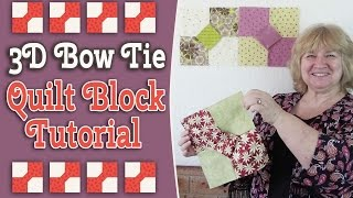 Quilting Blocks: In this tutorial, we show you how to make this super quick 3D Bow Tie Quilt Block.This looks amazing when it is made up into a quilt.---WATCH MORE QUILT BLOCK TUTORIALS HERE---https://www.youtube.com/playlist?list=PLMxvvtt3Z3CKZx04rEe8Vod1SP1EX767l---FOLLOW US ON---Website: http://www.alandacraft.comFacebook: http://www.facebook.com/alandacraftPinterest: http://www.pinterest.com/alandacraft/Instagram: http://instagram.com/alandacraftTwitter: http://twitter.com/AlandaCraftTumblr: http://www.tumblr.com/blog/alandacraft