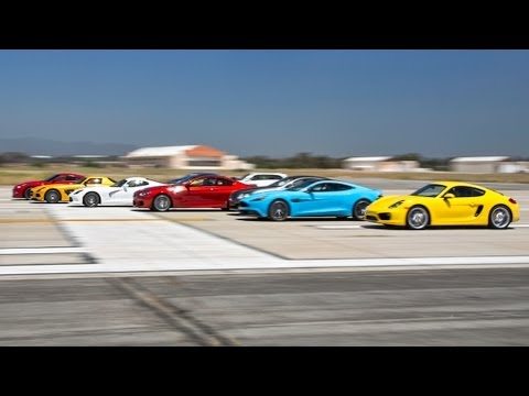 drag race - It's back! The World's Greatest Drag Race returns with twelve of the world's best supercars and sports cars for 2013 facing off in an epic quarter-mile sprin...