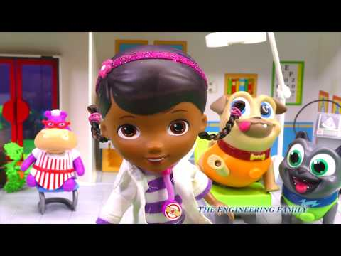 Rolly From Puppy Dog Pals Visits Doc McStuffins Because Of His Hurt Paw