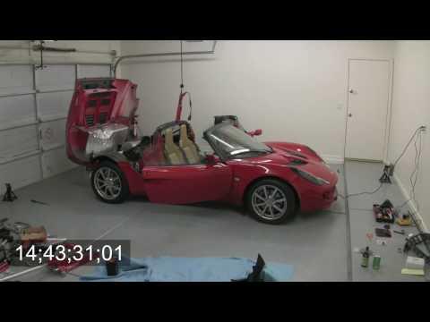 Lotus Elise ClamHinge Install Timelapse HD