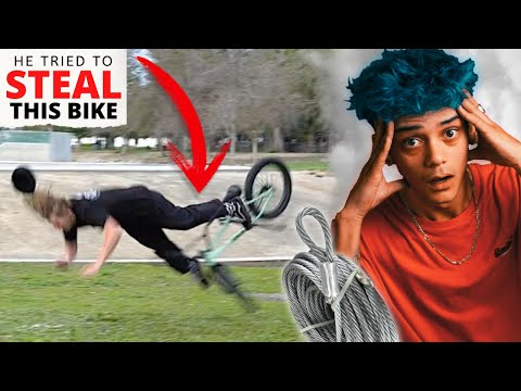 HE TRIED TO STEAL MY BIKE! (SOCIAL EXPERIMENT)