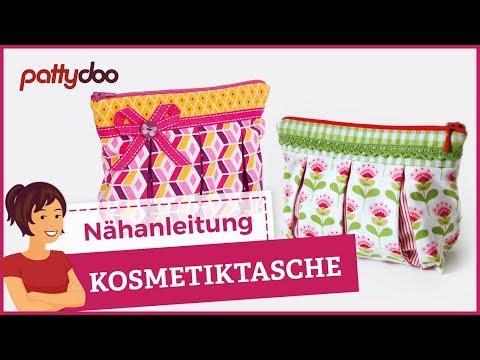 Nähanleitung für eine Kosmetiktasche mit Reißverschluß und Falten – pattydoo tutorial #06