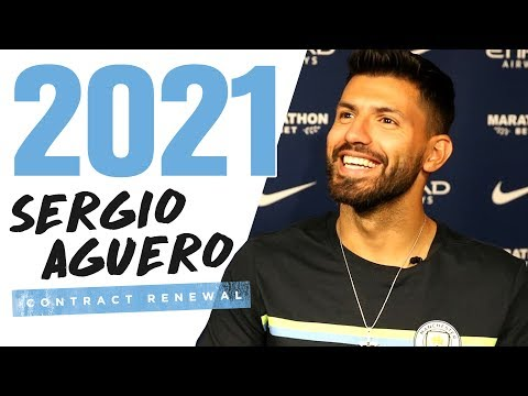 SERGIO AGUERO SIGNS NEW CONTRACT | Exclusive Interview