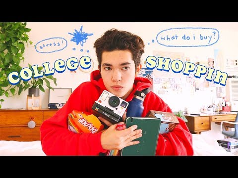 College Shoppin' List (Dorm Decor, Food, Stationery)