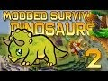 Minecraft: Modded Dinosaur Survival Let's Play w/Mitch! Ep. 2 - BATTLE-TOWER SIEGE!