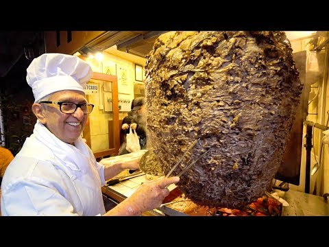 KEBAB KING Of TURKEY - ISTANBUL Street Food : World's BIGGEST Döner Kebab | TURKISH STREET FOOD 2019