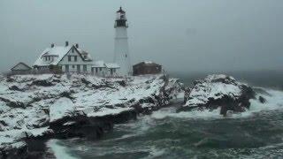 Portland (ME) United States  city photo : Portland, Maine - USA Head Light House ( Winter ) High Definition Wide Screen