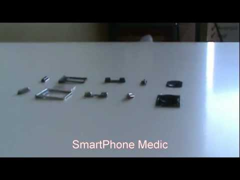 iphone 5 Parts - iPhone 5 leaked parts shown: Sleep/Wake Button, Vibrate Switch, Volume Switch, SIM Card Tray, Home Button. Stay tuned for more parts as we get them in.