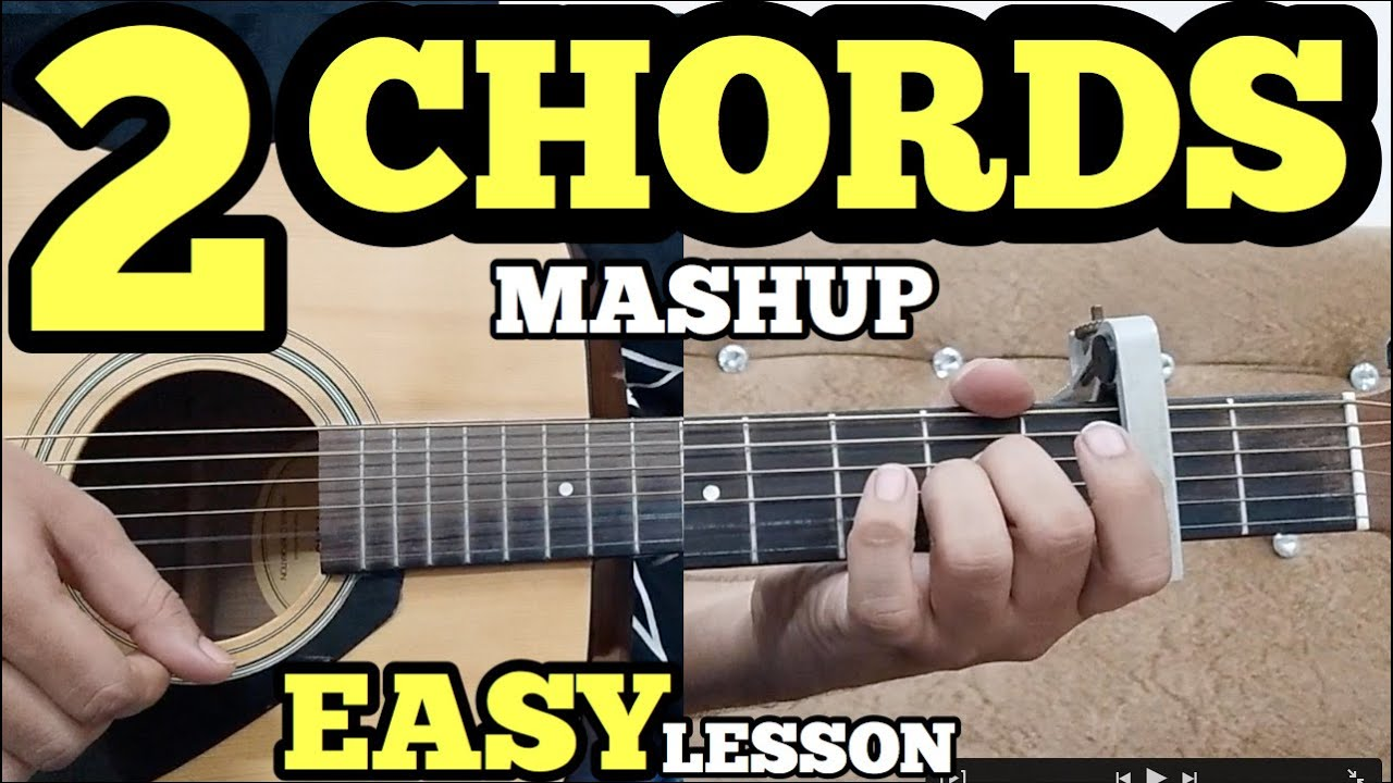 2 Open Chords 5 Easy Hindi Songs on Guitar For Beginners – Bollywood Guitar Mashup by Fuxino
