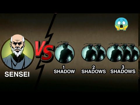 SENSEI Vs 1 Shadow, 2 Shadows and 3 Shadows Shadow Fight 2 Mod