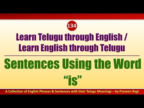 "134 - Spoken Telugu (intermediate Level) Learning Videos - Sentences Using The Word ""is"""