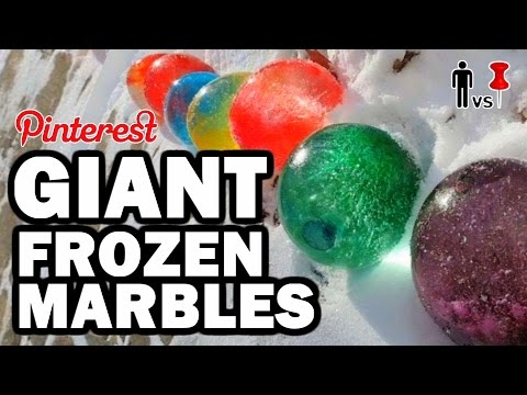 GIANT Frozen Marbles - Pinterest Test #79 - Man Vs Pin Quickie