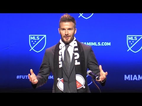 David Beckham Launches MLS Team In Miami - Full Press Conference