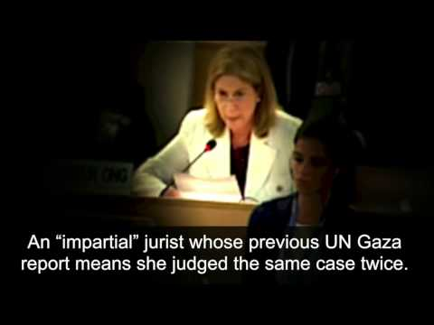 Anne Bayefsky faces off @ UN against Gaza report authors, June 29, 2015, Geneva
