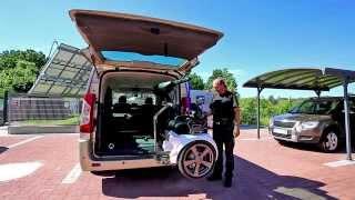 Jeřábek zavazadlový Harmar AL425 001 ve voze PEUGEOT Expert