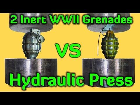 超紓壓的「液壓機擠壓東西」影片這次挑戰一顆手榴彈,壓下去的那一刻大家都不敢呼吸了!