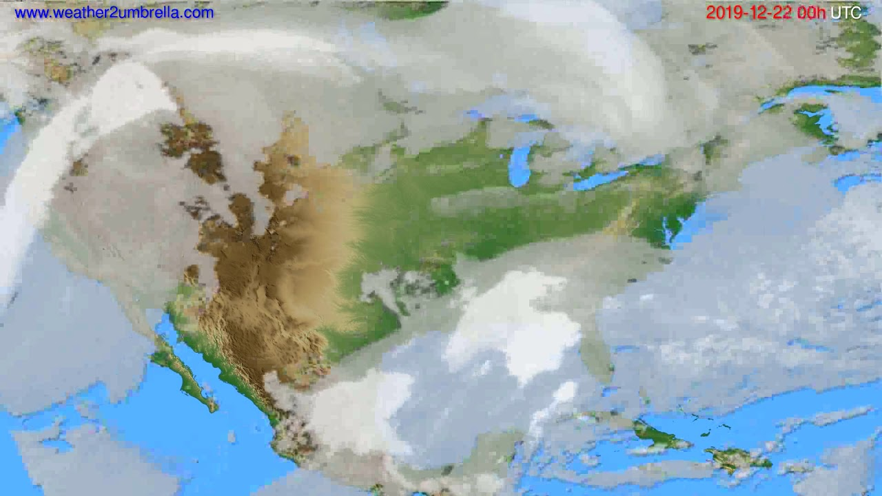 Cloud forecast USA & Canada // modelrun: 00h UTC 2019-12-21