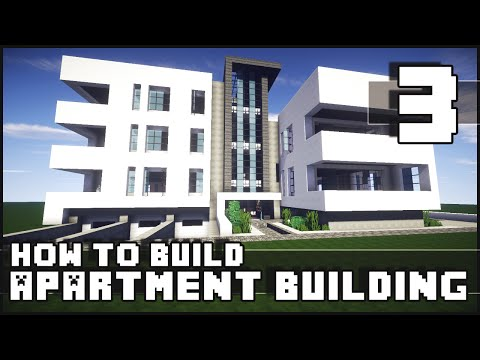Minecraft – How to Build : Modern Apartment Building – Part 3