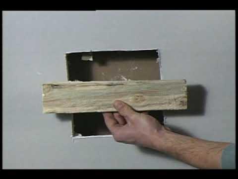 comment reparer trou dans placo