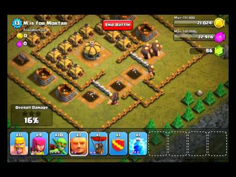 Clash of Clans Level 13 – M is for Mortar