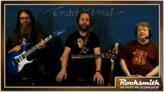 """This week, the Notetrackers take on 4 of the 5 songs in the Grateful Dead song pack, including """"Sugar Magnolia,"""" """"Uncle John's Band,"""" """"Casey Jones,"""" and """"Friend of the Devil."""" Also, Sam gives a tutorial on the playing and construction of bluegrass riffs! -- Watch live at https://www.twitch.tv/rocksmithgame"""