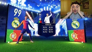 *PRIMO IN ITALIA* CRISTIANO RONALDO TOTY 99 IN A PACK !!! TOP 5 BEST PACK OPENING! [FAN EDITION] #3