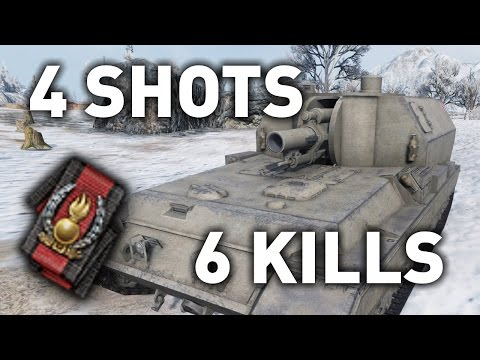 World of Tanks || 4 Shots, 6 Kills...