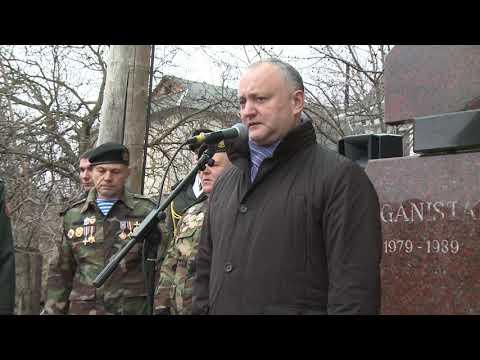Igor Dodon a participat la deschiderea unui nou Memorial în Durlești