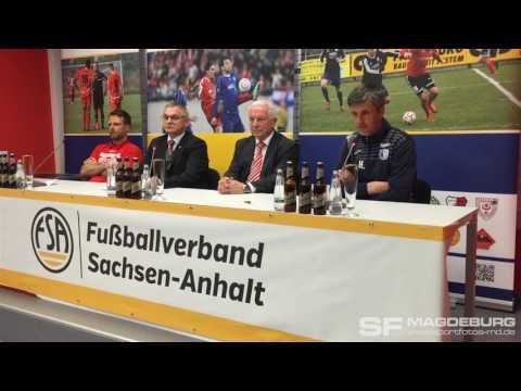Video: Pressekonferenz - Hallescher FC gegen 1. FC Magdeburg 2:1 (1:0)