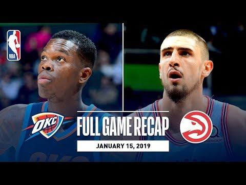 Video: Full Game Recap: Thunder vs Hawks | Young & Len Record Double-Doubles