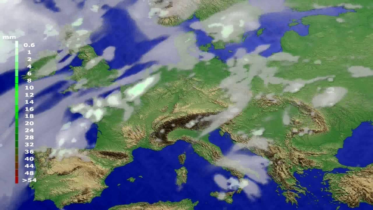 Precipitation forecast Europe 2016-06-20