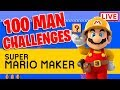 Super Expert With Only 100 Lives... | Super Mario Maker LIVE!!